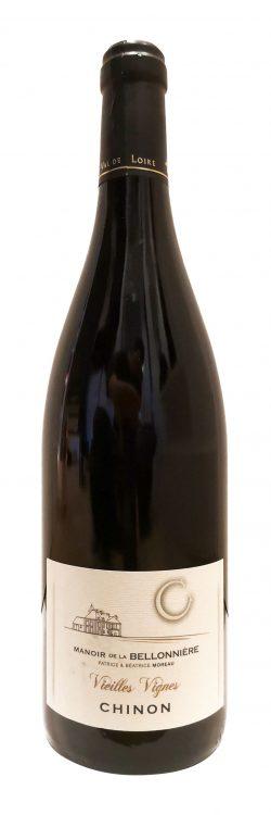 bouteille de vins rouge, Vieilles Vignes du Manoir de la Bellonnière
